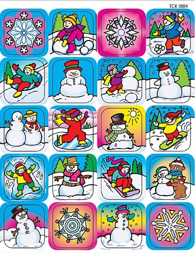 Teacher Created Resources Winter Stickers, Multi Color (1804)