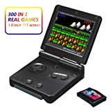 Xinguo Handheld Game Console, Portable Video Game 3 Inch HD Screen 300 Classic Games,Retro Game Console Can Play on TV, Good Gifts for Kids. (Black) (Color: Black)