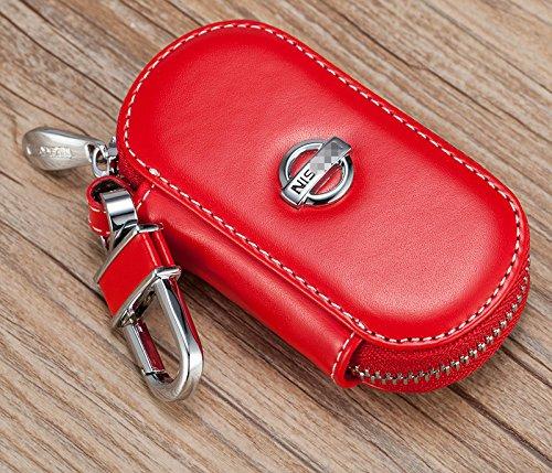 personalisiert-elegante-rindsleder-autoschlussel-schlusseltasche-schlusselanhanger-fur-nissan-rot