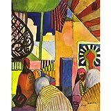Art Panel - In The Bazaar By August Macke