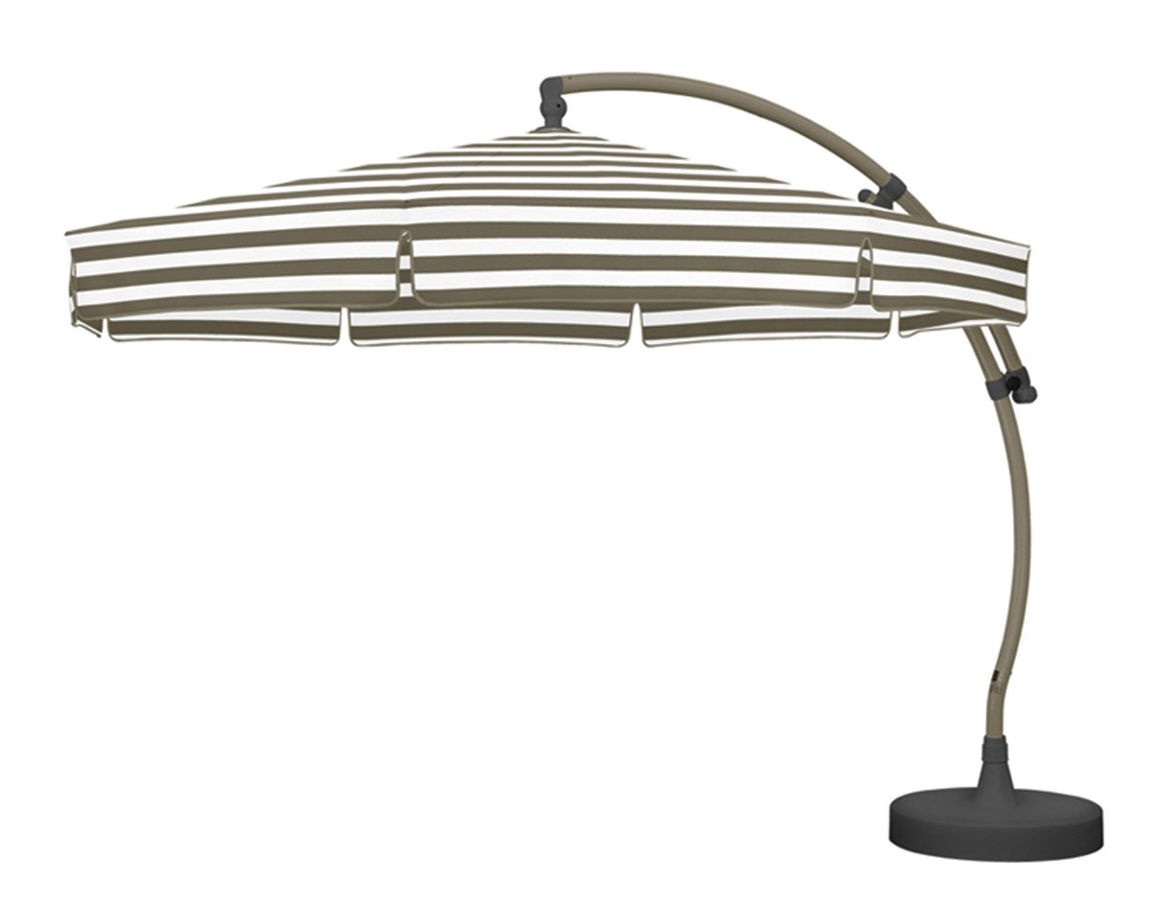 Sun Garden 10155810 Ampelschirm Easy-Sun, Polypropylen, ø 3.5 m, Streifen / taupe günstig online kaufen