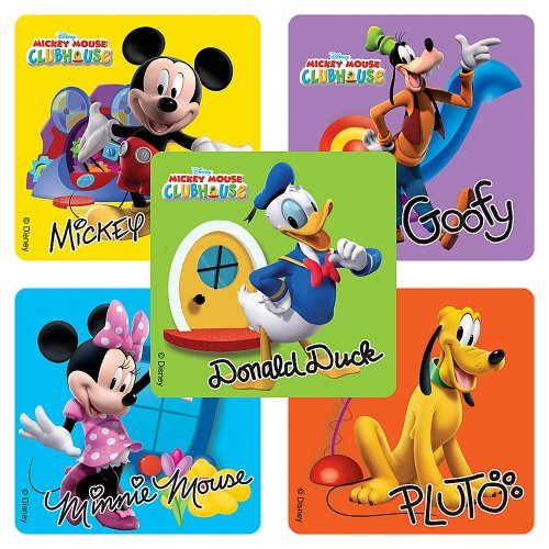 Disney Mickey Mouse Clubhouse Stickers - Party Favors - 75 per Pack