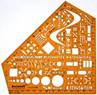 Metric Electrical and Electronic Installation Symbols Drawing Template Stencil - Engineering Drafting Supplies - Layout Plan Schematic Wiring from Bocianelli
