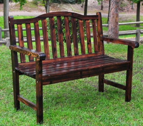 The Belfort Garden Bench – Burnt Brown (Burnt Brown) (44.75″W x 36″H x 22″D)