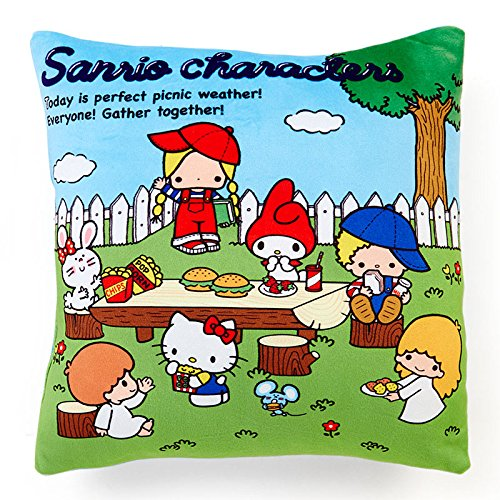 Sanrio Sanrio Characters glutinous Square cushion '70s Garden From Japan New (70s Dress Up Ideas)