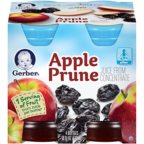Gerber Juice, Apple Prune 4 Ounce, 4 count (Baby Apple Juice compare prices)