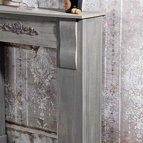 Wohnzimmer Deko wohnzimmer deko online shop : Deko Kamin aus Holz Kaminkonsole Wohnzimmer Kaminsims Deko Kamin ...