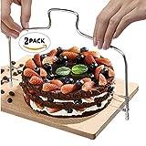 Nextnol 2 PCSï¼?Stainless Steel Cake Toolsï¼?Minimalist styleï¼?Cake layering deviceï¼?Cake splitterï¼?Cake Cutter Leveler