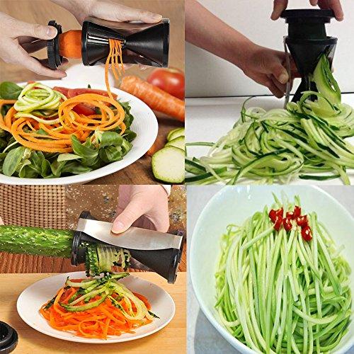 me fan vegetable spiralizer bundle spiral vegetable slicer vegetable cutter zucchini. Black Bedroom Furniture Sets. Home Design Ideas