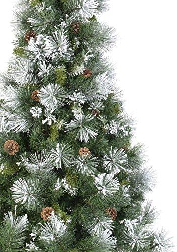 rbol de navidad artificial verde nevado