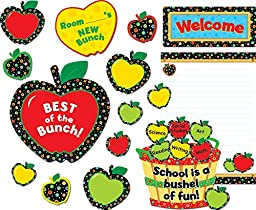 Creative Teaching Press Bulletin Board Set, Poppin\' Patterns Back-to-School Apples (4711)