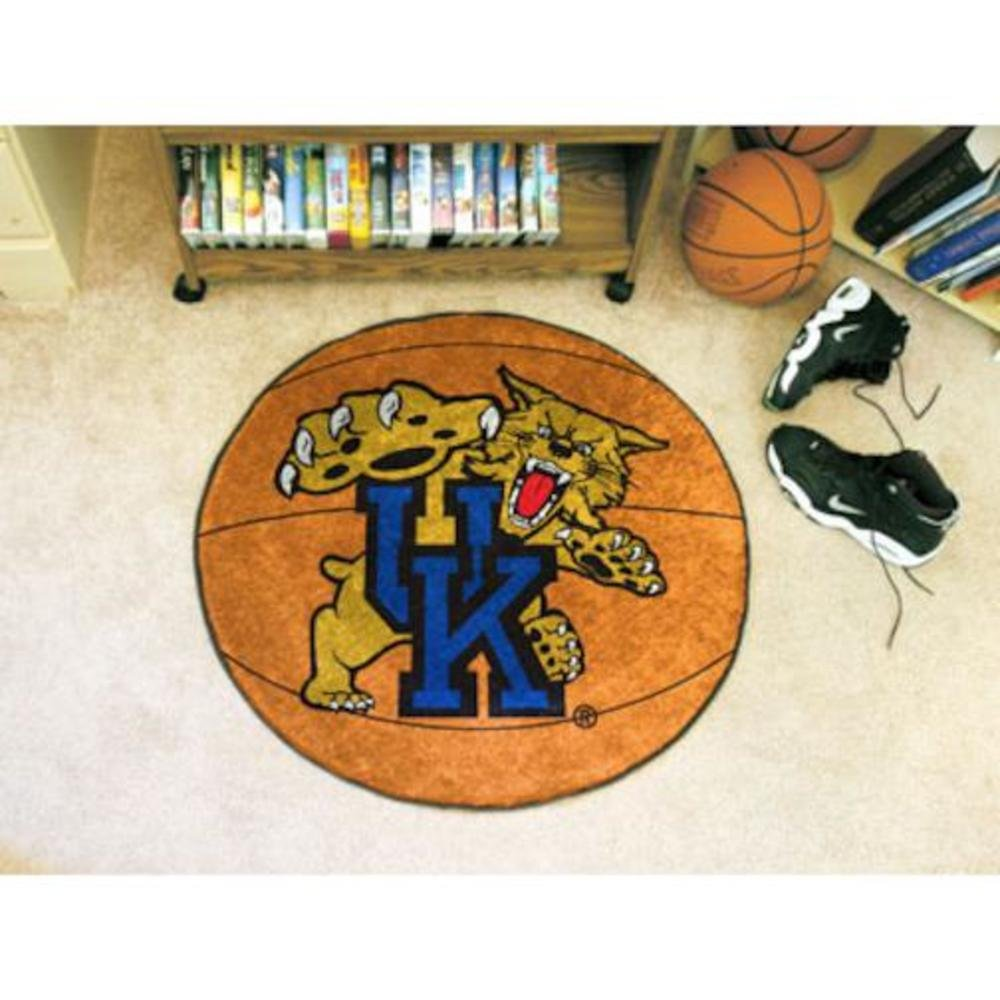 Fanmats Kentucky Wildcats Basketball-Shaped Mat college basketball jersey wildcats 23 100% college basketball jerseys