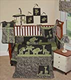SISI Baby Boy Boutique Animal Planet Lime 13 Pc Baby Bedding Nursery Crib Set by Sisi