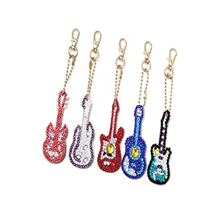 DIY Diamond Painting Keychain 5D Mosaic Making Full Drill Special Shape Diamond Painting Pendant for Bags,Phone Straps (10 Pack)