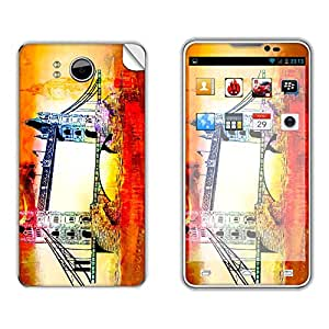 Skintice Designer Mobile Skin Sticker for Micromax Canvas Doodle A111, Design - London