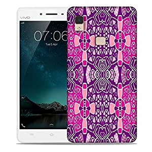 Snoogg Mixed Color Pattern Designer Protective Phone Back Case Cover For Vivo V3 Max