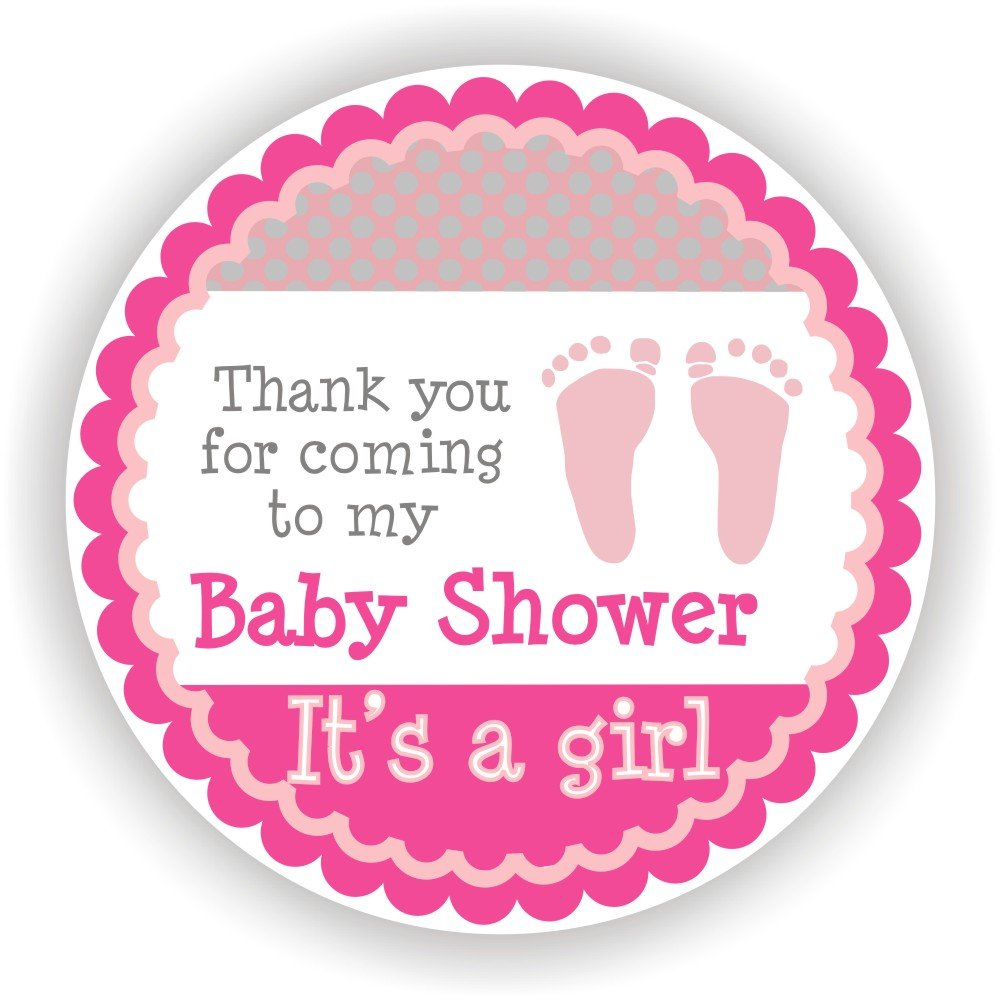 shower stickers it 39 s a girl stickers favor stickers baby shower