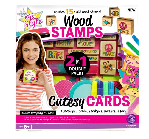 Just My Style 2-in-1 Create Your Own Stamps and Cards Kit - 1