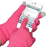 Amzer Capacitive Touch Screen Knit Gloves for Smart Phones, iPad, iPhone, Blackberry, Samsung, LG, HTC and Sony Ericsson - Pink