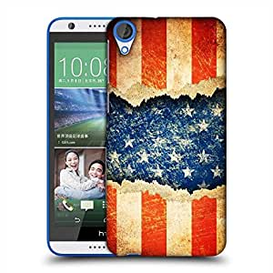 Snoogg Grunge america Designer Protective Back Case Cover For HTC Desire 820