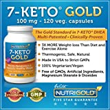 7-Keto 100mg, 120 Vegetarian Capsules (Recommended as #1 in Belly-Blasting Weight-Loss Supplements)