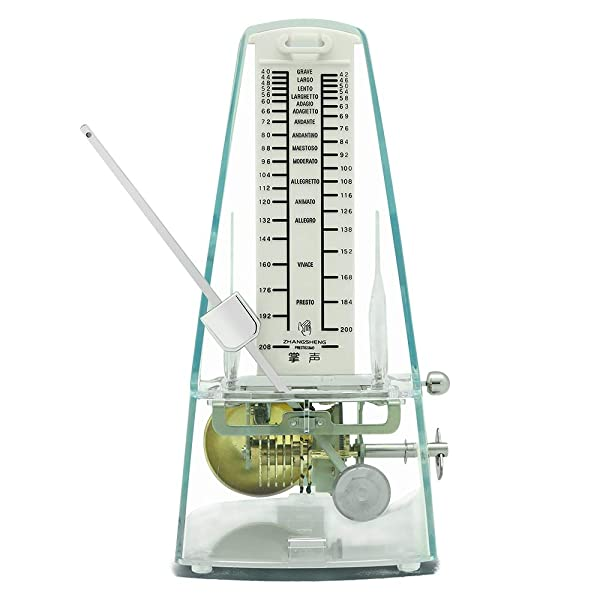 Transparent Red ZhangSheng T710 Mechanical Metronome for Loud Sound Piano Drum Violin Guitar Bass Track Tempo and Beat