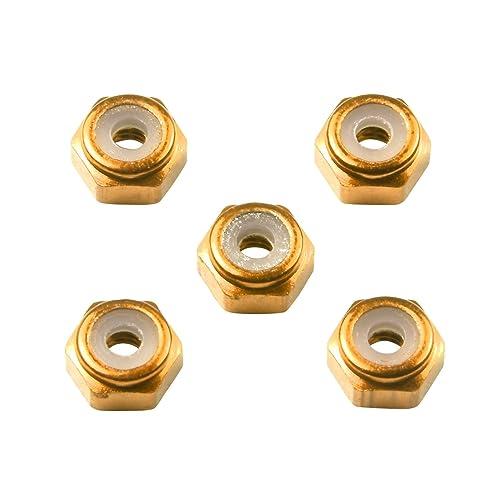 ミニ四駆限定シリーズ 2mm アルミロックナット ゴールド 94858