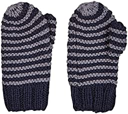 2H Hand Knits Baby Boys\' Striped Mittens  - Indigo/Pewter - XS (6-12 Months)