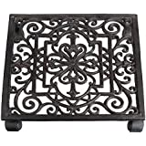 Esschert Design Plant Trolley Cast Iron Square