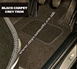 Smart Roadster (2003 to 2006) Black Car Mats + Grey Trim