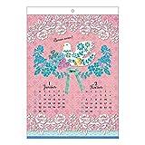アートプリントジャパン 2017 KIRIE(切り絵)デザイン カレンダー壁掛け No.202 1000080257