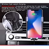 Behave Auto Rav4 Wireless Car Charger Mount Fit for Toyota RAV4 2013 2014 2015 2016 2017 2018 Air Vent Phone Mount Adjustable, Car Phone Cradle for iPhone Samsung 4.5-7 Inches and Above Smartphone ¡ (Color: Ra-zj001-007)