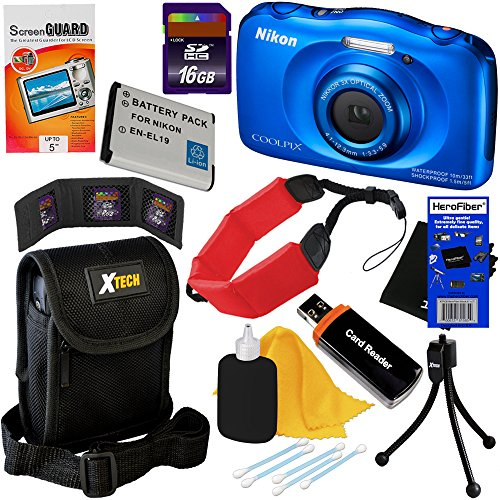 Nikon COOLPIX S33 Waterproof & Shockproof 13.2 MP Digital Camera with 3x...