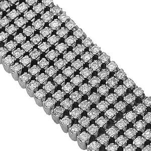 10K White Gold Mens Diamond Bracelet 25.00 Ctw