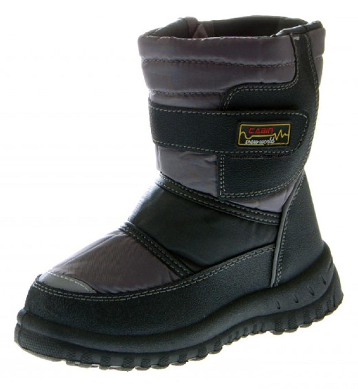 Kinder Stiefel Winter Schuhe gefüttert Schwarz Blau Grau Schnee Schuh günstig