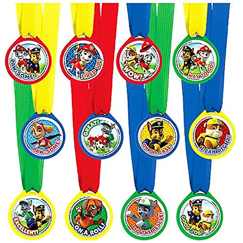 Paw Patrol Award Medals / Favors (12ct) - 1