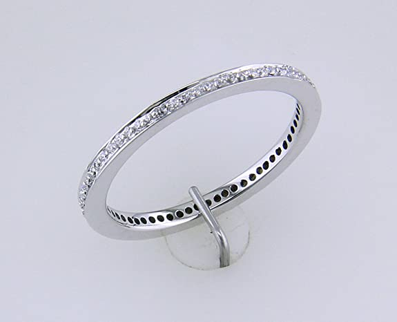White Gold Diamond Ring with 64 Brilliants in Posh 585 Diamonds, Total 0. Approx 25ct. Size 56 in