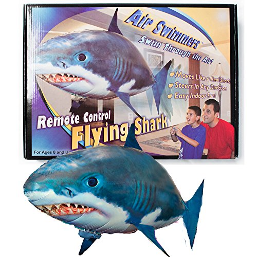 Air Swimmers Remote Control Flying Shark with Extra Balloon Plus Batteries