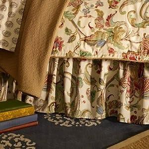 Lauren by Ralph Lauren Bedding, Antigua Paisley Floral Bedskirt; QUEEN
