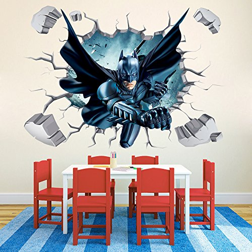 Batman Through-Wall Stickers With Decor Decal Art Removable Vinyl Home Art Decor For Kids Nursery Bedroom (Through Wall compare prices)