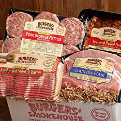 Our sampler includes delicious Southern delights that will be the hit of any meal, anywhere!  Award winning Applewood Smoked Bacon (Blue Ribbon Bacon Festival 1st Place) will please your bacon Connoisseur, and Country ham bacon is a true Southern cla...