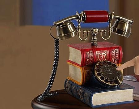 hyl Téléphone rétro Home Swivel Telephone