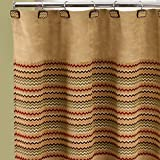 Popular Bath Waves Shower Curtain, Mocha