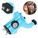 Filfeel Tattoo Machine Gun, Shader Liner Rotary Clip Cord Strong Motor Makeup Tool Alloy for Shader Supply Equipment and Artists(Blue) (Color: Blue)