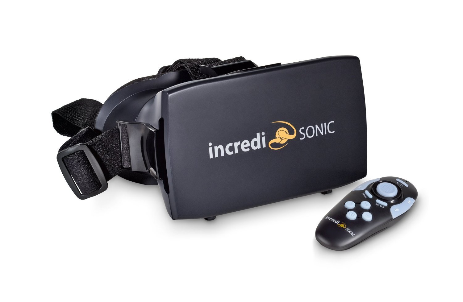 IncrediSonic VUE Series VR Glasses, Headset, & Bluetooth Gaming Controller (Black)