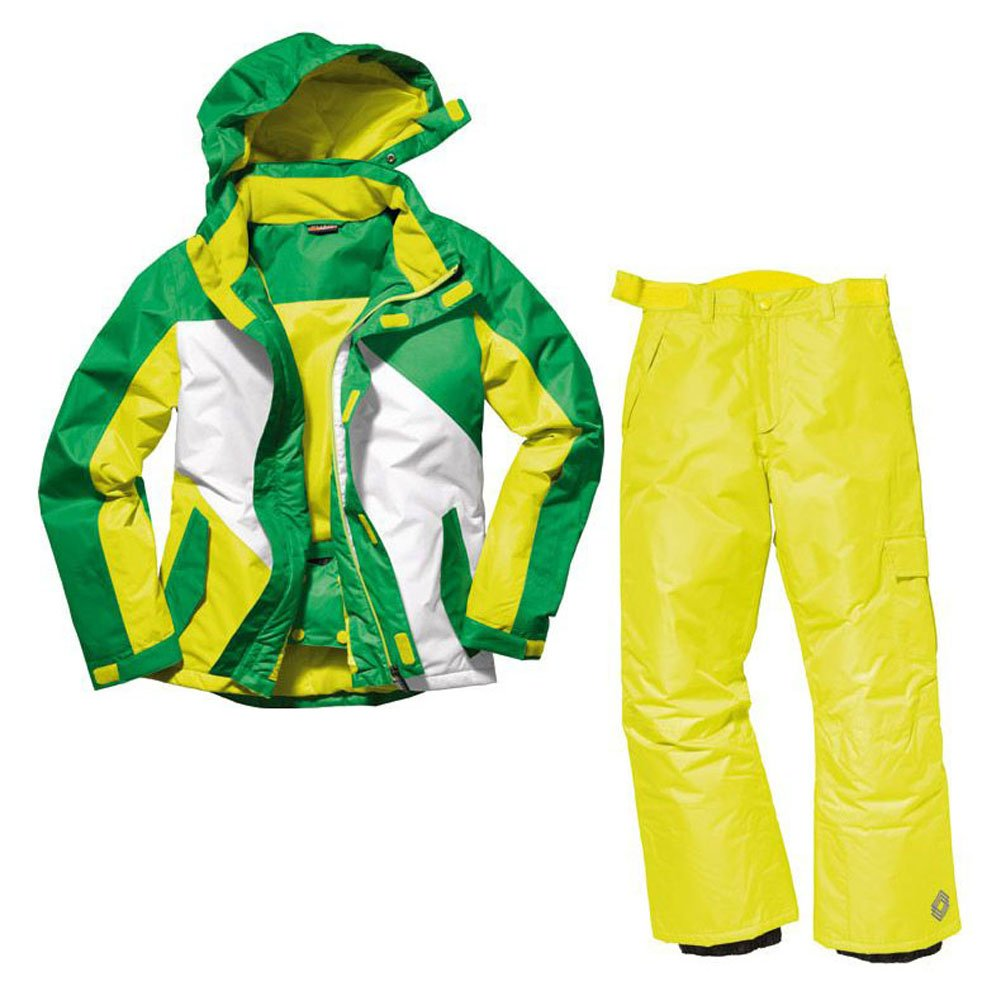 Jungen Snowboardanzug Skianzug Größe: 158/164 Grün-Gelb Snowboardjacke & Snowboardhose Set Schneeanzug online kaufen