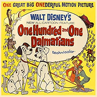 One Hundred And One Dalmatians (1961) Original Movie Poster at Amazon
