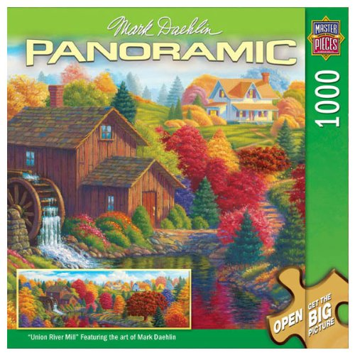Cheap MASTERPIECES UNION RIVER MILL PANORAMIC JIGSAW PUZZLE (B000CJCF8Y)