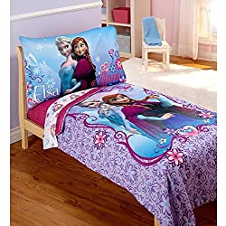 Disney Frozen Elsa & Anna 4-pc Toddler Soft and Comfy Bedding Set