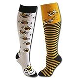 Bee and Stripe Socks Yellow/Black M/L (Color: Yellow/Black, Tamaño: Medium / Large)